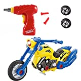 Take Apart Toys Motorcycle Kit Set – Build Your Own Model Motorcycle Kit Construction Set (2 Models) – 20 Take-A-Part Pieces With Engine Sounds & Toy Tools For Kids