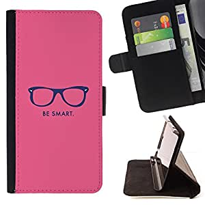 - Queen Pattern FOR LG Nexus 5 D820 D821 /La identificaci????n del cr????dito ranuras para tarjetas tir????n de la caja Cartera de cuero cubie - be smart hipster motivational pink