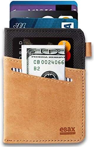 Ebax Minimalist Slim Front Pocket Wallet - Exclusive Design