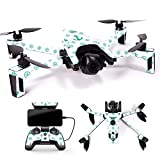 Cheap MightySkins Skin for Parrot Anafi Drone – Teal Designer | Protective, Durable, and Unique Vinyl Decal wrap Cover | Easy to Apply, Remove, and Change Styles | Made in The USA