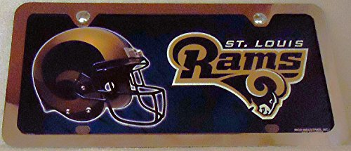 1 , Football Sign of the, SAINT LOUIS RAMS , Metal Sign, Enclosed in a Chrome Metal Frame,6B2.1+17B5.4+3001+