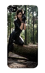 Ednahailey Iphone 5/5s Well-designed Hard Case Cover Girls And Guns Girl Gun Asian Girl Weapon Pistol Warrior Forest Protector For New Year's Gift