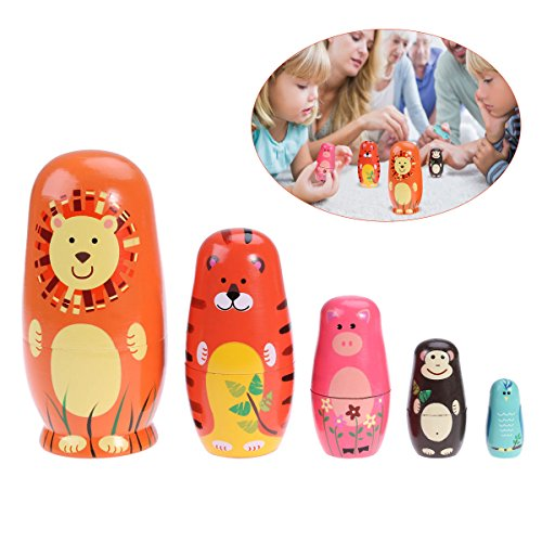 TOYMYTOY Nesting Dolls Five Cute Russian Dolls Toy Gift