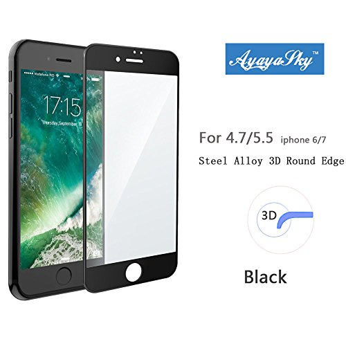 iPhone 7 Screen Protector Glass, iPhone 7 Tempered Glass Screen Protector for Apple iPhone 7 2016 (iPhone 7 Black)