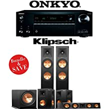 Klipsch RP-260F 5.1-Ch Reference Premiere Home Theater System with Onkyo TX-NR777 7.2-Ch 4K Network AV Receiver