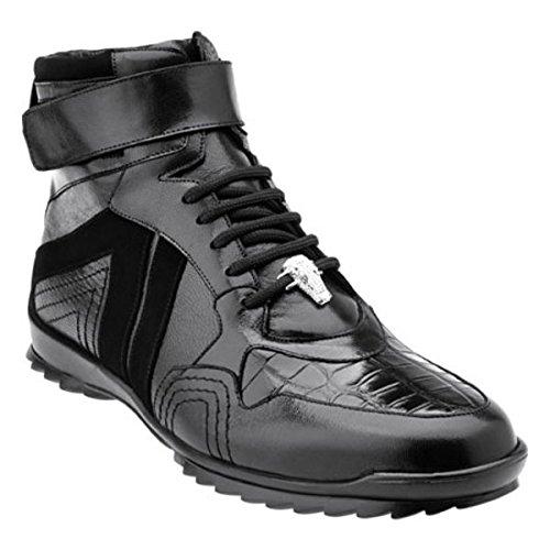 [ベルベデール] メンズ スニーカー Rino Ostrich High Top Sneaker [並行輸入品] B07DHQYGW8