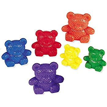 Learning Resources Three Bear Family Counter Set, Rainbow, Set of 96
