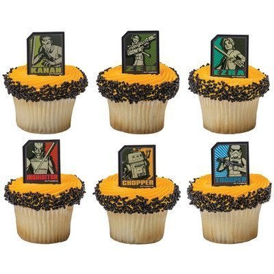 Star Wars Rebels Regiment Cupcake Rings - 24
