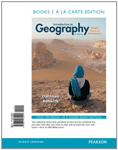 Introduction to Geography: People, Places & Environment, Books a la Carte Plus Mastering Geography with eText -- Access Card Package (6th Edition)