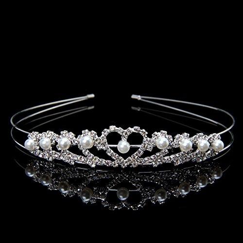 cici store Women Rhinestone Hair Crown Bridal Wedding Princess Headband Crown Headpiece Hair Accessories (Baby Stickman Costume)