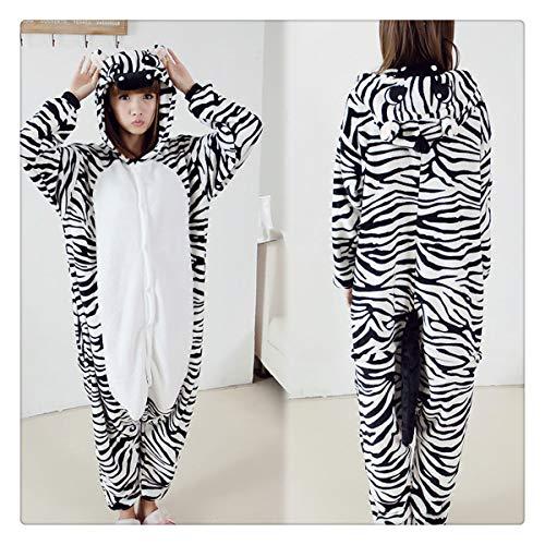 Halloween Autumn and Winter Pajama Sets Cartoon Sleepwear Women Pajamas Christmas Flannel Animal Stitch Panda Unicorn Pajama Zebra L -