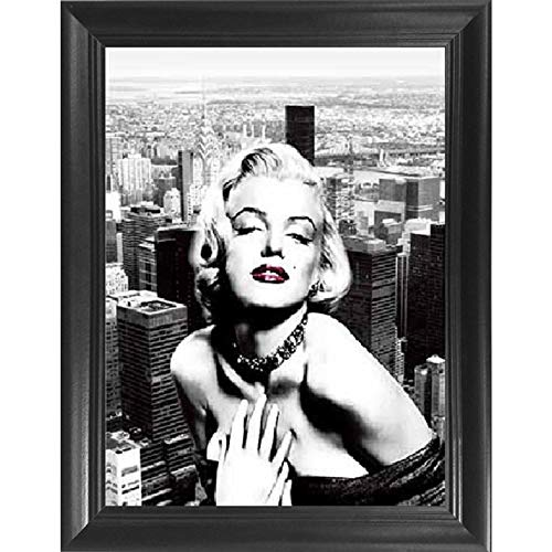 Marilyn Monroe New York 3D Poster Wall Art Decor Framed Print | 14.5x18.5 | Lenticular Posters & Pictures | Memorabilia Gifts for Guys & Girls Bedroom | Celebrity Vintage Room Picture & Decorations