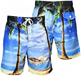 Tokyo Laundry Men's Casual Summer Swim Shorts Large Blue