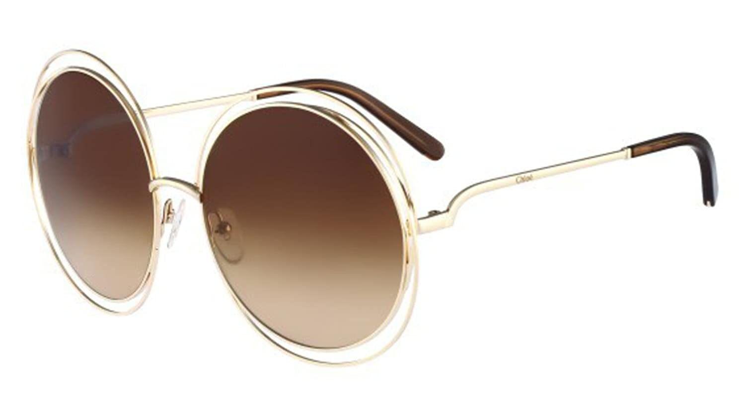 7c0ddd7c733 Chloe CE114S 784 Rose Gold / Brown Carlina Round Sunglasses Lens Category 3  Siz at Amazon Men's Clothing store: