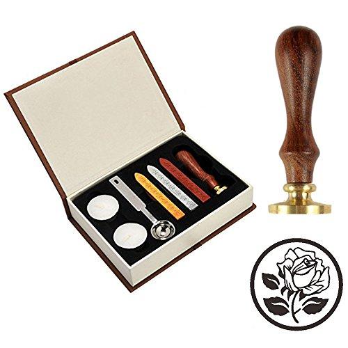 Rose Seal (Wax Seal Stamp Kit, VIYOUNG Classic Vintage Seal Wax Stamp Set, Creative Mysterious Stamp Maker Kit (Rose))