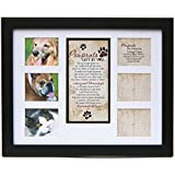 Pawprints Left By You Poem Collage 11x14 Black Frame - Engravable Religious Gift