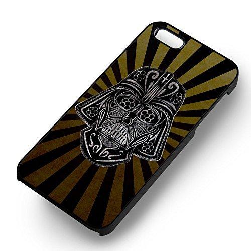 Darth Vader Retrp Floral pour Coque Iphone 6 et Coque Iphone 6s Case (Noir Boîtier en plastique dur) S4L1IG