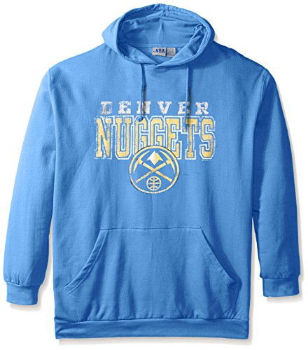 (NBA Denver Nuggets Men's Screen Pullover Fleece Hoodie, 3X, Coast Blue)