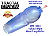 Soft Blue Pump-N-Gro Made In The USA Medical Grade Polymer Size 14 Men's Penis Pump