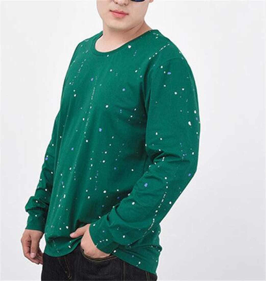Bigbarry Mens Modern Pullover Graphic Crew Neck Plus Size Sweatshirts Jacket