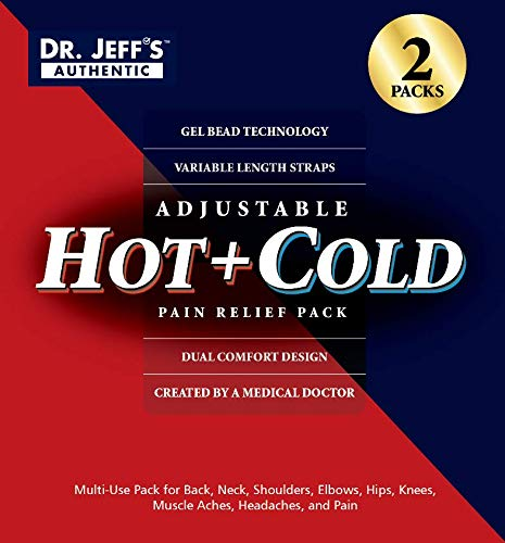 Set of 2 Large Ice Packs for Injuries, Ice Wrap Hot Pack for Pain Relief, Knee, Sciatica, Back, Migraine, Arthritis,Shoulder Pain Ice Pack-Neck Warmer-Set Includes 2 Ice Heat Packs,Extension Straps