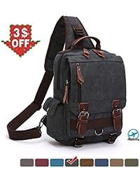 "<span class=""a-offscreen"">[Sponsored]</span>Canvas Messenger Bag Shoulder Backpack Cross Body Rucksack"