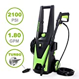 PowRyte Elite Electric Pressure Washer, 2100PSI 1.80GPM Power Washer with Extra Turbo Nozzle, Tall Handle