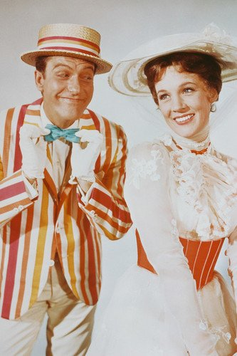 Mary Poppins Dick Van Dyke Julie Andrews smiling portrait 24X36 Poster