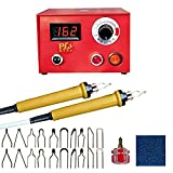 TOPCHANCES 110V 50W Adjustable Temperature Pyrography Machine Kit Set Wood Crafts Tool Kit Wood Burning Set for Wood Leather Burning