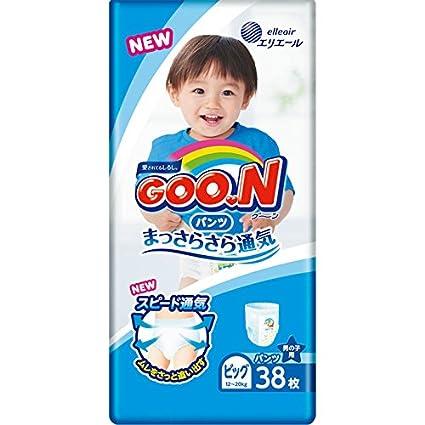 Pañales japoneses - bragas Goo.n PB Boy (12-20 kg) 38