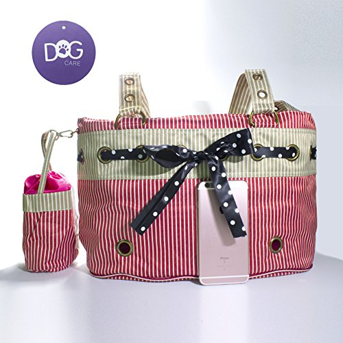DOG CARE Pet Carrier, Soft & Washable Pet Travelling Tote Bag, Portable Pet Home, Pink