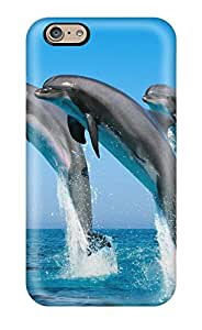 New Style Hard Plastic Iphone 6 Case Back Cover,hot Bottlenose Dolphins Case At Perfect Diy 8302437K36787456