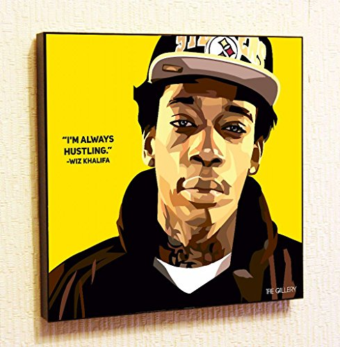 Wiz Khalifa Singer Music Artist Actor Decor Motivational Quotes Wall Decals pop Art Gifts Portrait Framed Famous Paintings on Acrylic Canvas Poster Prints Artwork Geek Decor (10x10