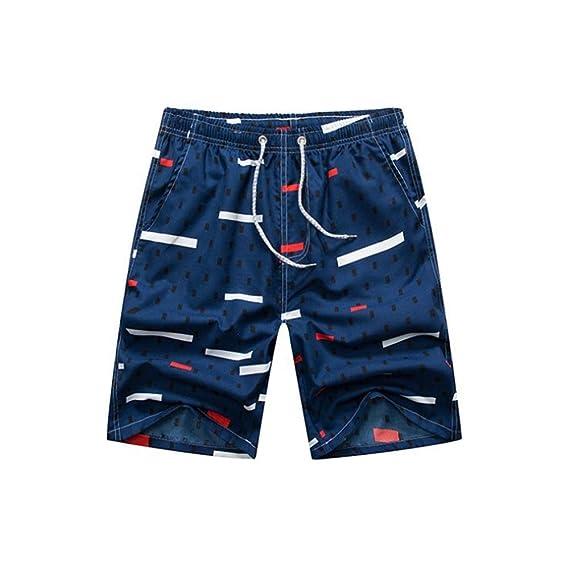 ad45c63fe914 RACEER - Pantalones Cortos de Playa para Hombre, Informales, Sueltos ...