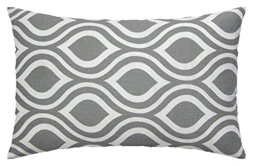 JinStyles Ogee Cotton Canvas Lumbar Decorative Throw Pillow