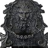 Sunnydaze Stoic Courage Lion Head Outdoor Solar