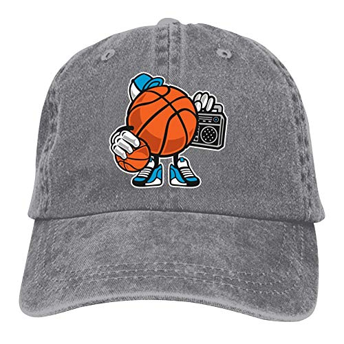 (Street Basketball Jam Double Buckle Adjustable Cowboy Personality Retro Cowboy Hat Gray)