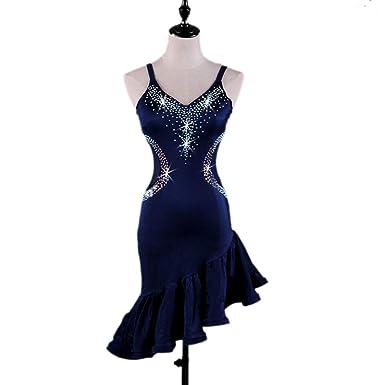 90678fc14773b New Latin Dance Dress Salsa Tango Cha cha Ballroom Rhinestone Competition  Dress FM301 (S,