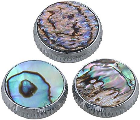 yibuy 0,62 x 0.4inch cromado Abalone Shell dedo botón Pack de accesorios de instrumentos de viento de 3: Amazon.es: Instrumentos musicales