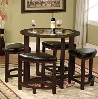 Amazoncom Baxton Studio Rochester Brown Modern Bar Table Set