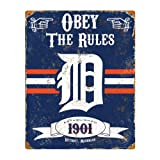Party Animal MLB Embossed Metal Vintage Pub Signs,Detroit Tigers