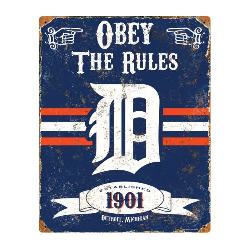 Detroit Tigers Metal - Party Animal MLB Embossed Metal Vintage Pub Signs,Detroit Tigers