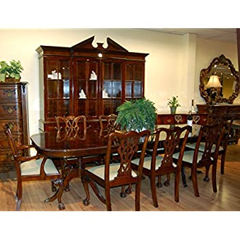 Genial Classic Mahogany 10 Piece Dining Room Set