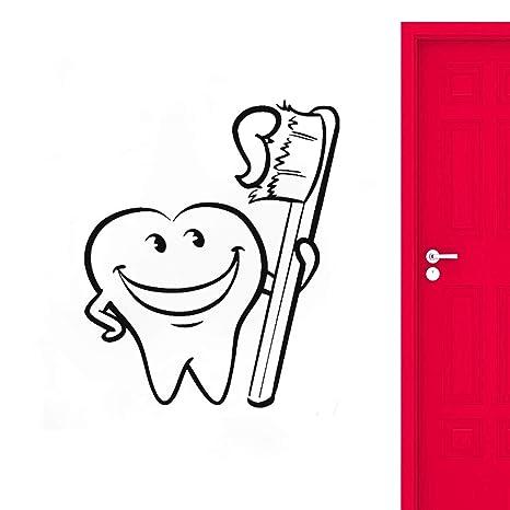 Cepillo de dientes fresco vinilo pegatinas de pared baño ...