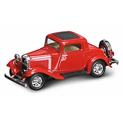 1932 Ford 3-Window Coupe, Red - Yatming 94231 - 1/43 Scale Diecast Model Toy Car: Toys & Games