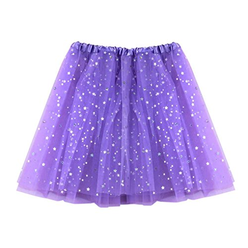 Gaze couleurs Tutu Jupe clair Femme Robe courte Tutu tulle Courte jupe tutu Moonuy court de adulte Violet en varies plisse ballet Mini danse jupe XnzIR