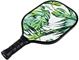 Graphite Pickleball Paddle by Upstreet (Lime) | PP Honeycomb Composite Core | Neoprene Racket Cover