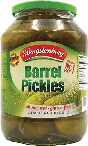 Hengstenberg Traditional German Barrel Pickles, 57.5 Ounce (Jarred Pickles)