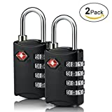 TSA Luggage Lock, 4 Dial Combination Travel Locks for Suitcase Baggage( 2Pack)