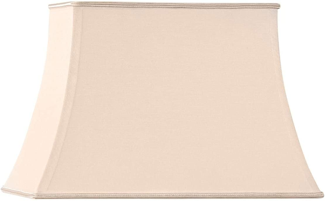 45x32// 29x21// 32 HUGUES RAMBERT Beige Abat-jour forme pagode rectangle